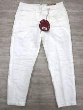 NEW Da-Nang Women's Capri Pants/ Cropped Pants Cotton WHITE CLN1000 SMALL S