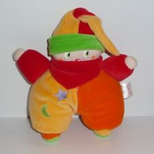Doudou Clown Corolle - Bonnet Jaune Rouge
