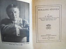 Rolling Stones 35 Short Stories Collection by O. Henry 1919 Edn Art Letters Incl