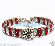 Ladies fashion charm jewelry Tibet Tibetan silver bracelet colourful bangles