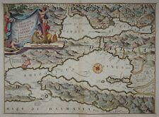Navile di Cattaro-Bahía de Kotor en montenegro-Coronelli 1690-Rare Map