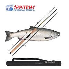 "SANTIAM FISHING RODS 3 PC 9'0"" 10-20 LB SPINNING ROD ALASKAN TRAVEL SERIES"