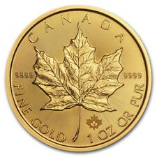 2018 Canada 1 oz Gold Maple Leaf Coin BU - SKU #158647