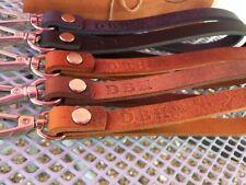 Personalized Leather Wristlet. Long Keychain. Monogrammed Wrist Strap. camera