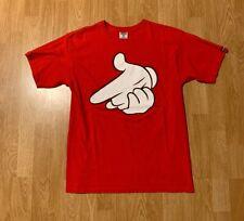 Crooks And Castles Mickey Mouse Hands Gun T-Shirt Size Men's Medium