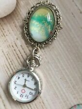 Vintage Brooch Nurse Fob Watch