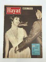 HAYAT (LIFE) #28 - Turkish Magazine - 1960s 60s - ELIZABETH TAYLOR COVER - Nazi