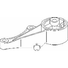 Lagerung Motor vorne - Topran 206 161