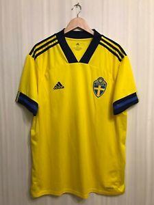 5+/5 Sweden 2020/2021 home Size XL Adidas shirt jersey soccer Sverige football