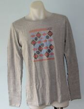 Roxy Women Long Sleeve Printed T Shirt - GREY - SIZES - S,L & XL - NEW