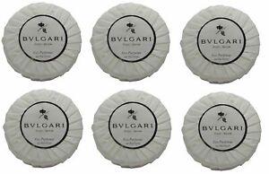 Bvlgari White Tea au the blanc lot of 6 ea 1.76oz bars of Soap Total of 10.56oz