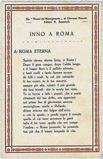 CARTOLINA d'Epoca ROMA citta' - INNO A ROMA