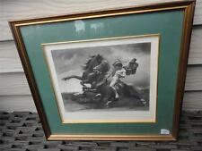 Antique Framed Photo Gravure Etching AUTOMEDON Edmond Grandjean Pinx 1881