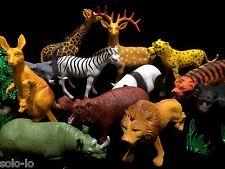 12 pcs Large Wild Animal Plastic PVC Kids Toy Figurine Animals (11 - 21cm ) NEW