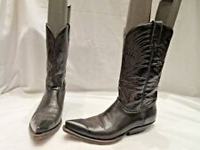 BUFFALO BROWN PATENT LEATHER COWBOY BOOTS UK 5 (1840)