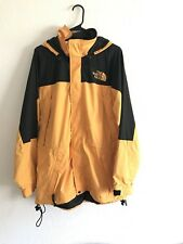 THE NORTH FACE VINTAGE JACKET MENS LARGE 90s YELLOW Packable SEE PICS
