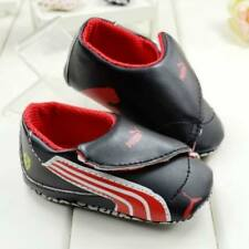 Baby Black Ferrari Pre-walker Shoes