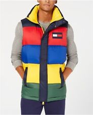 Tommy Hilfiger Oversized Colorblocked Down Puffer Vest Mens Small New