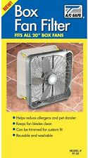 """Ac Safe 20"""" Box Fan Filter #Ff-20 Washable And Reusable! Fits all 20"""" Box Fans"""