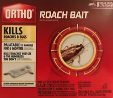 ORTHO Roach Bait & Egg Killer - 8 Clean Snap Stations - Palatable up to 6 months