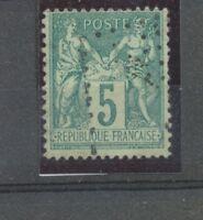 SAGE N°75 5c vert Obl JOUR DE L'AN ANCRE B1796