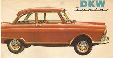 DKW Junior Saloon c 1961 UK Market Small Format Foldout Sales Brochure