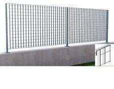 pannello grigliato per recinzione acciaio zincato cm h 198x2 mt sezione 25x2 mm