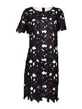Calvin Klein Women's Sz 6P Floral Lace Shift Black Dress 2049-3