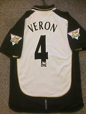 MANCHESTER UNITED 2001/02 AWAY SHIRT REVERSIBLE ADULTS(M) 4 VERON