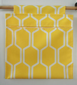 Yellow & White Canvas Clothes Peg Bag Holder- For Trolley & Washing Line