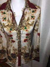Womens Forsara Elegant Blouse Size Medium Multicolor