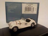 Model Car. BMW 328 - White Oxford Diecast 1/76 New Dublo, Railway Scale