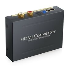 Convertisseur HDMI vers HDMI Extractor Audio Vidéo SPDIF OPTIQUE 5.1CH RCA 2.1C