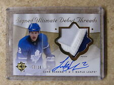 08-09 UD Ultimate Signed Debut Threads Rookie RC Patch Auto LUKE SCHENN /10