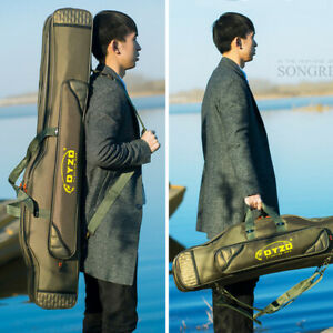 2/3/4 Compartment Fishing Rods Holdall Bag Backpack Tackle Reels Large Organizer