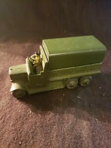 Dinky Toys Military Army 6 Wheeled Army Covered Wagon with 2 soldiers