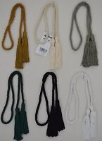 """Curtain & Chair Tie Back -23""""spread with 3.75"""" chainnette tassels w/ 1/4"""" cord"""