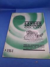 LANDOR TRADING CO. LTD. CATALOG 1964 OUTDOOR SUPPLY CANVAS SPORTING FISH HUNT
