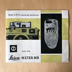 Leica Meter MR Instruction manual