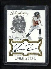 Chris Moore 2016 Flawless NOW & THEN SIGNATURES Auto #/25! RARE! Ravens BEARCATS