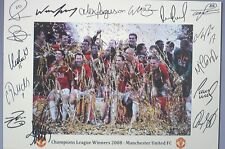 MANCHESTER UNITED 2008 UEFA Cup Champions signed Print