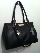 REDUCED!!  DKNY Black Genuine Leather Shopper/Shoulder Bag. NWT.