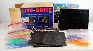 Vintage Original 1967 Hasbro Lite-Brite Light Bright in BOX with Pegs WORKS