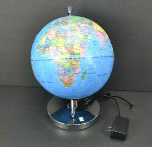 "LED Light Up Globe with Bluetooth Speaker World Map 12"" Tall Constellation Light"