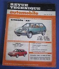 Revue technique  RTA 478 Citroen AX 10 E RE 11 RE TRE 14 TRS TZS