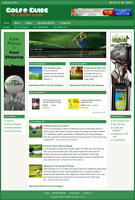 GOLF GUIDE - Professionally Designed Affiliate Website - Free Installation