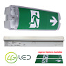 LED EMERGENCY LIGHT BULKHEAD 3W EXIT SIGN IP65 MAINTAINED / NON MAINTAINED