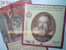 2 euro SAINT MARIN 2005 en coffret Galileo GALILEI San Marino Сан - Марино