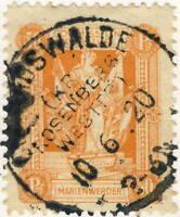 """MARIENWERDER - 1920 - Mi.6xB Used """" CONRADSWALDE """" Deutsche Abstimmungsgebiete"""