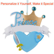 MAXORA Prince Crown Personalized Christmas Ornament  Holiday Gift